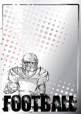 american football background 5 Vector