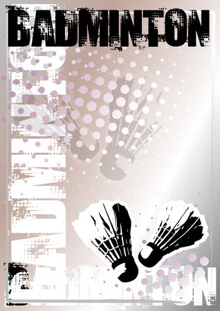 challenger: badminton background Illustration
