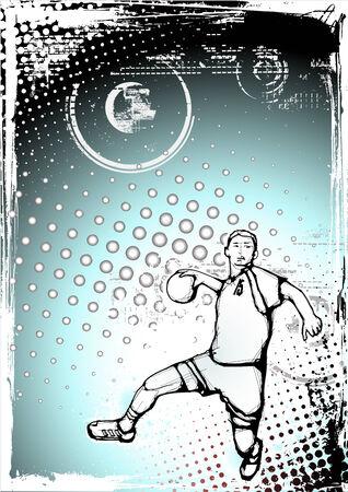 terrain de handball: affiche de handball