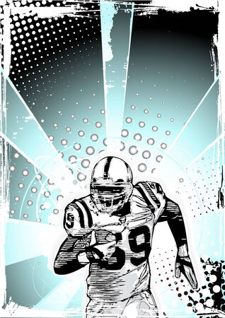 american football background  Vector