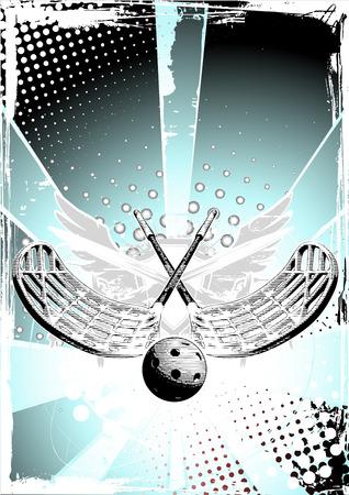 floorball poster 2 Vector