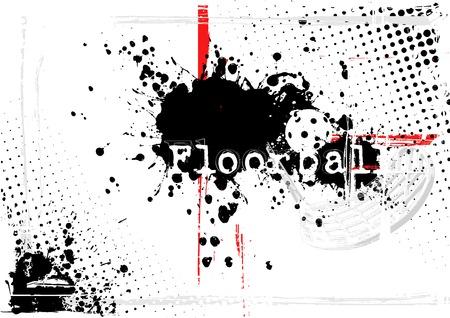 floorball poster Vector