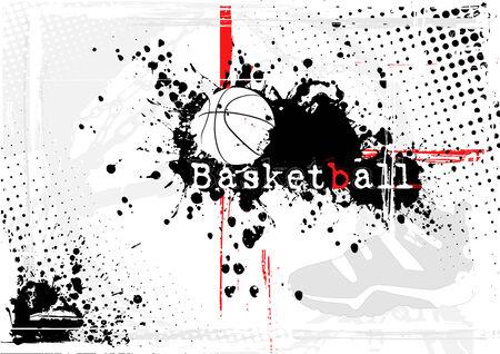 basketball background Stock Vector - 8381460