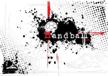 terrain de handball: arri�re-plan de handball