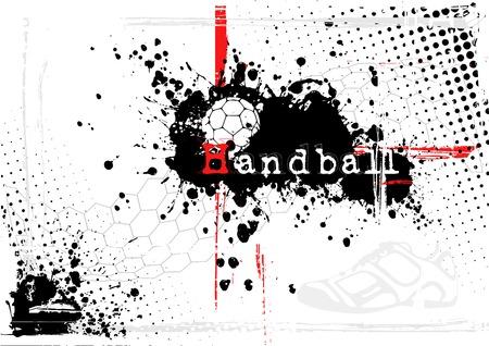 handball: handball background Illustration