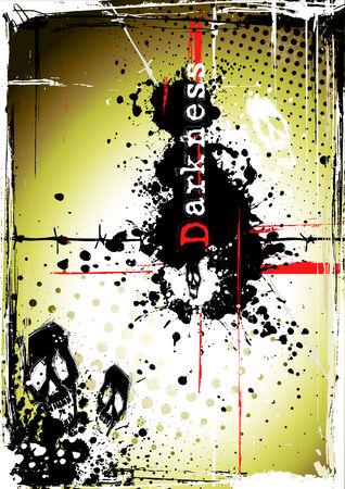 darkness poster Stock Vector - 8424347