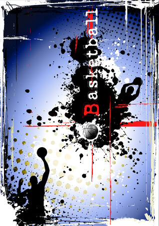dirty basketball poster Stock Vector - 8424352