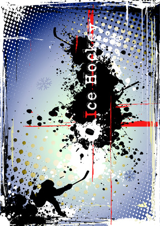hockey game: dirty ice hockey poster