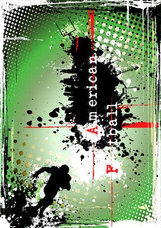 american poster: p�ster de f�tbol americano sucio