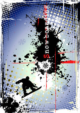 dirty snowboarding poster Stock Vector - 8476854