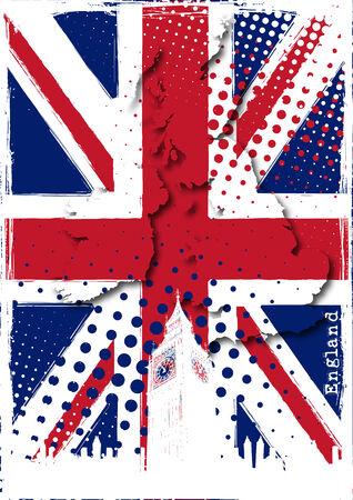 bandiera inghilterra: Inghilterra poster Vettoriali