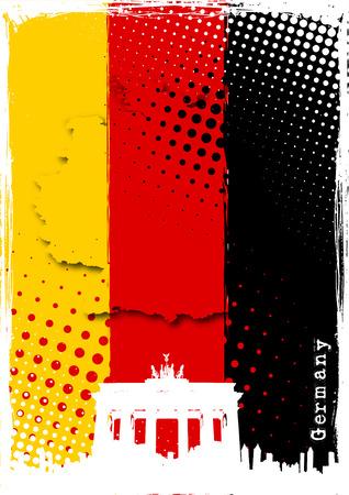 deutschland karte: Deutschland-poster Illustration
