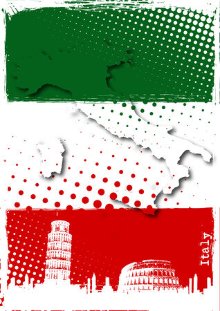 pisa tower: italy poster Illustration