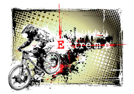 racing bike: biker frame Illustration