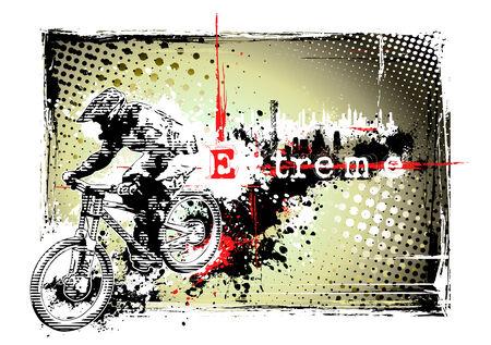 biker frame Illusztráció