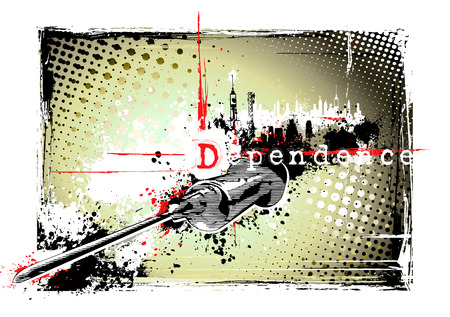 dependence: drug dependence poster Illustration