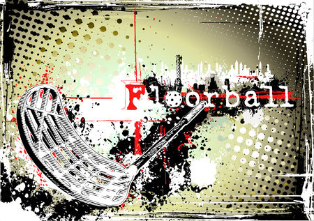 floorball frame Vector