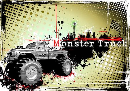 monsters: monster truck frame Illustration