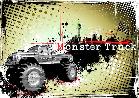 motorsports: monster truck frame Illustration