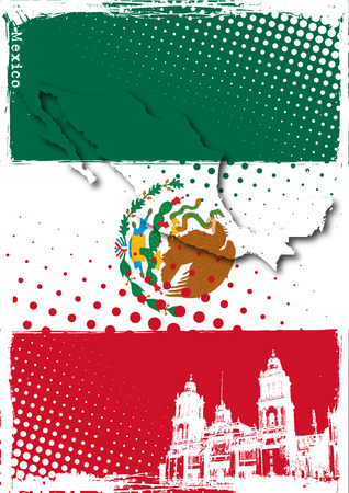 mexico city: poster of mexico Illustration
