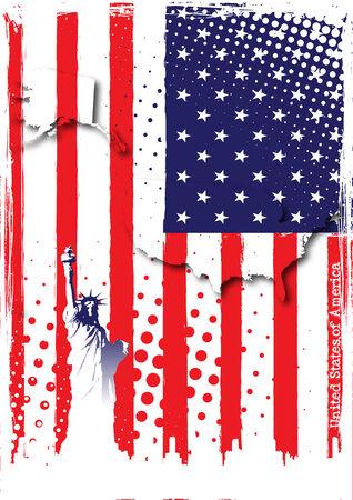 bandera estados unidos: póster de EEUU
