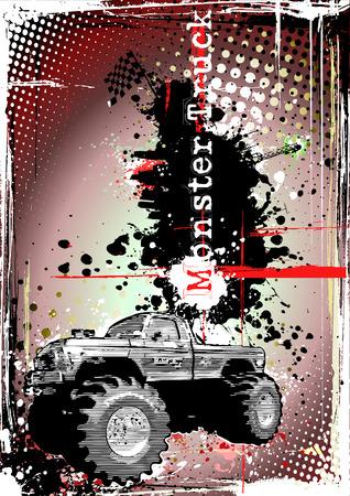 monster truck frame 2 Vector