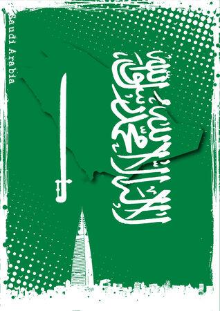 saudi: poster of saudi arabia Illustration