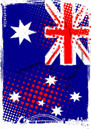 poster of australia Vector Illustration