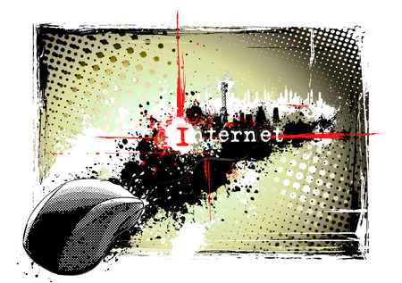 dirty internet background Stock Vector - 8532059