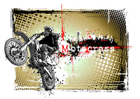poster of the motocross Illustration