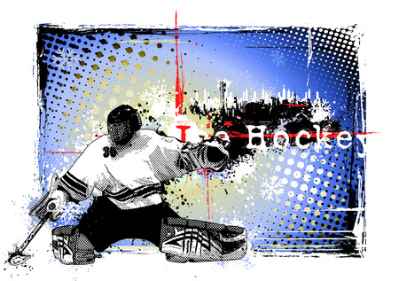 feathered: poster of the ice hockey Illustration
