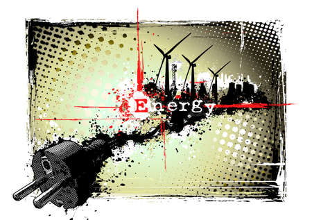 poster of the energy Stock Vector - 8579999