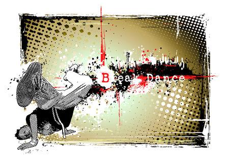 break dance poster Stock Vector - 8579998