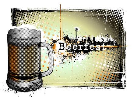 beer fest frame Stock Vector - 8625232