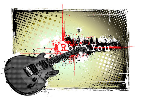 cornice di chitarra elettrica