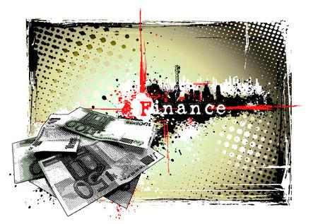 finance frame Stock Vector - 8625240
