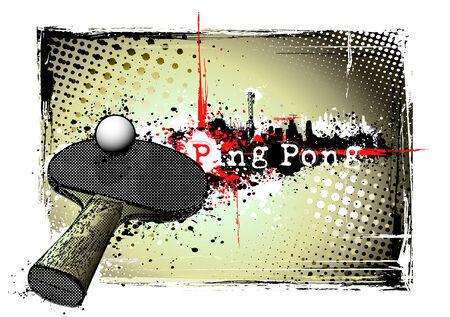 ping pong: marco de tenis de mesa