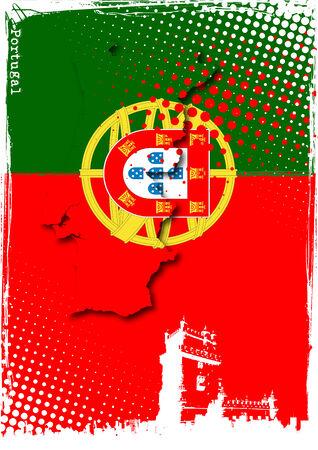 drapeau portugal: affiche du portugal