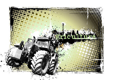 agricultural machinery: agriculture frame Illustration