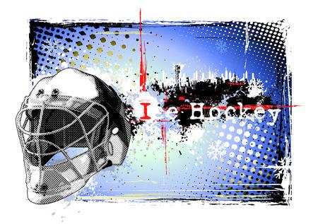 hockey sobre hielo: Hockey sobre hielo marco 2 Vectores