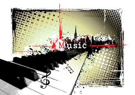 jazz club: cadre de piano