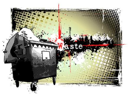 separacion de basura: marco de residuos