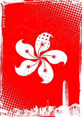 hong kong poster Vector