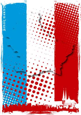 Luxemburg-poster Vector Illustratie