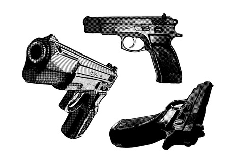 three pistols Stock Vector - 8685527