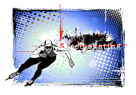 speed skating background Stock Vector - 8685528