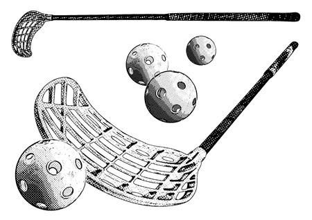 floorbal equipment Stock Vector - 8762352
