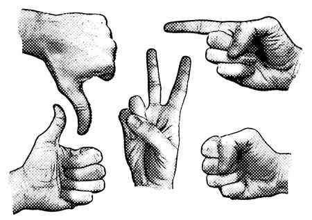 gesturing: hand signs