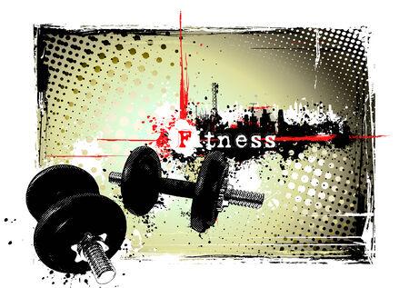 dumbell: telaio di fitness Vettoriali