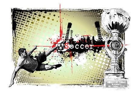 event poster: soccer frame